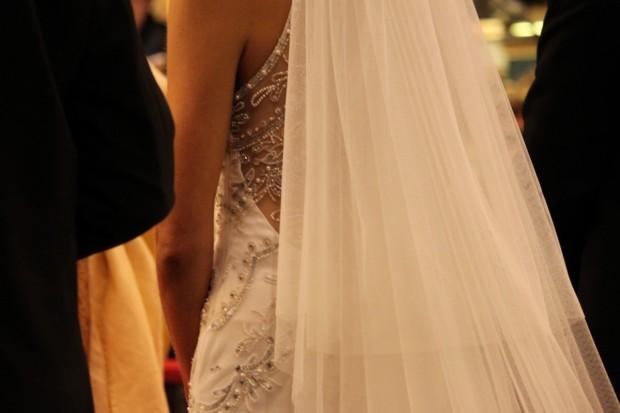vestido novia Rosa clará
