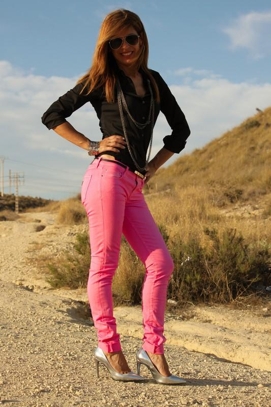 pantalones rosa chicle
